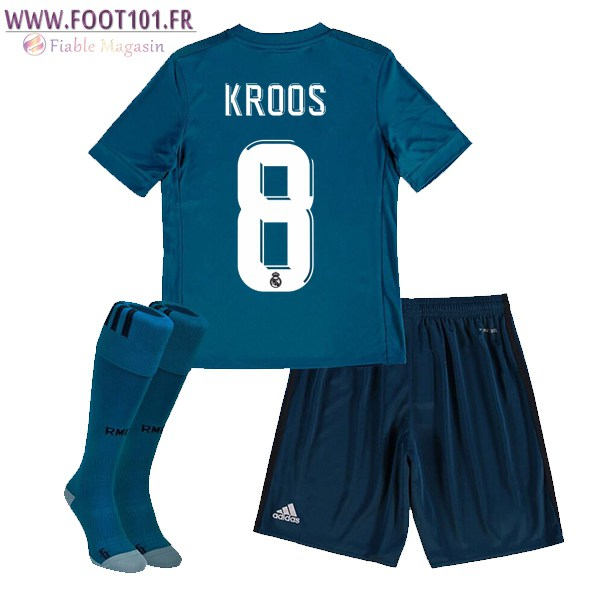 Maillot Foot Real Madrid (KROOS 8) Enfant Third 2017/2018