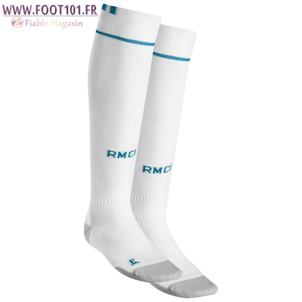 Chaussettes Foot Real Madrid Blanc 2017 2018 Domicile