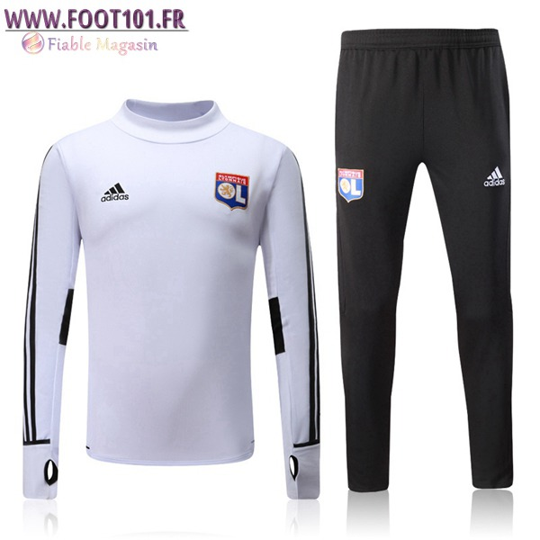 Ensemble Survetement Foot Lyon OL Blanc 2017/2018