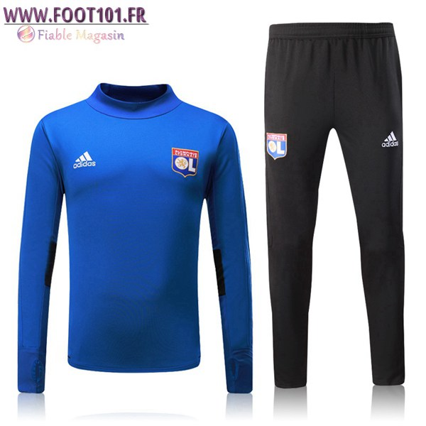 Ensemble Survetement Foot Lyon OL Bleu 2017/2018