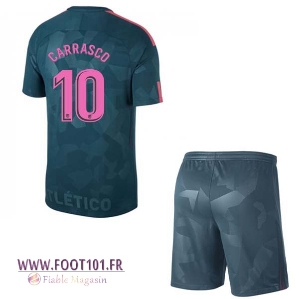 Maillot Foot Atletico Madrid (CARRASCO 10) Enfant Third 2017/2018
