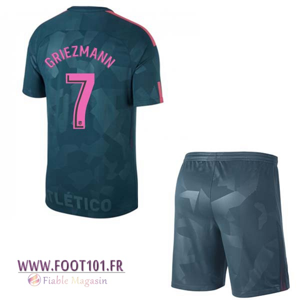 Maillot Foot Atletico Madrid (GRIEZMANN 7) Enfant Third 2017/2018