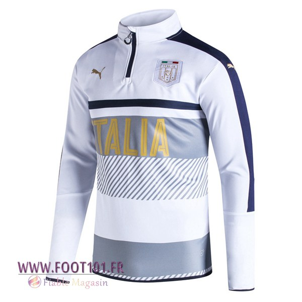 Sweatshirt Training Foot Italie Blanc 2017/2018
