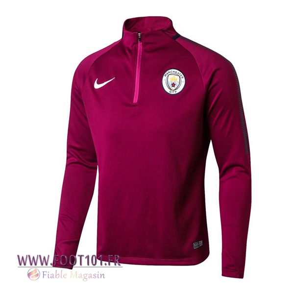 Sweatshirt Training Foot Manchester City Pourpre 2017/2018