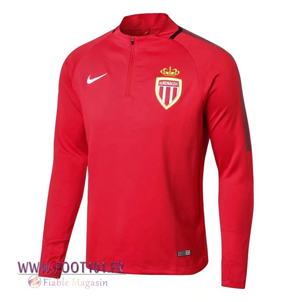 Sweatshirt Training Foot AS Monaco Rouge 2017/2018
