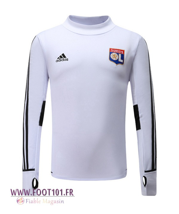 Sweatshirt Training Foot Lyon OL Blanc 2017/2018