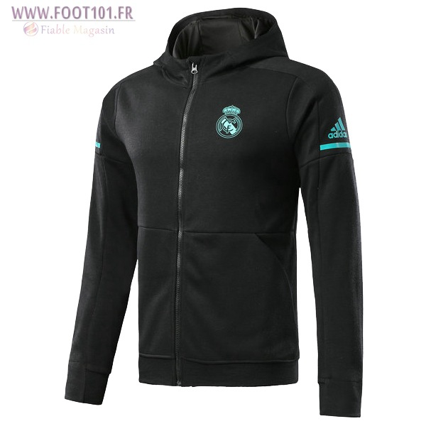 Capuche Veste Foot Real Madrid Noir 2017/2018