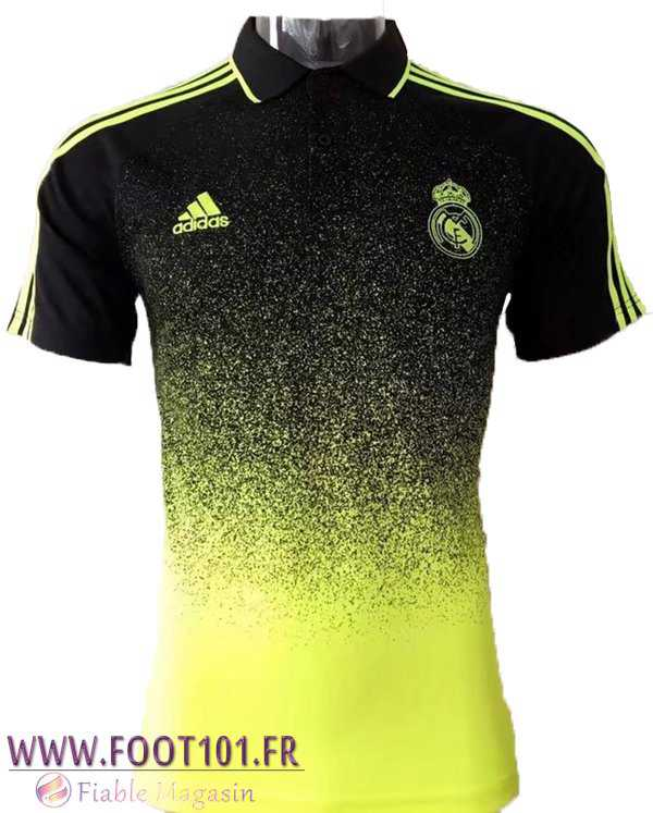 Polo Real Madrid Jaune/Noir 2017-2018