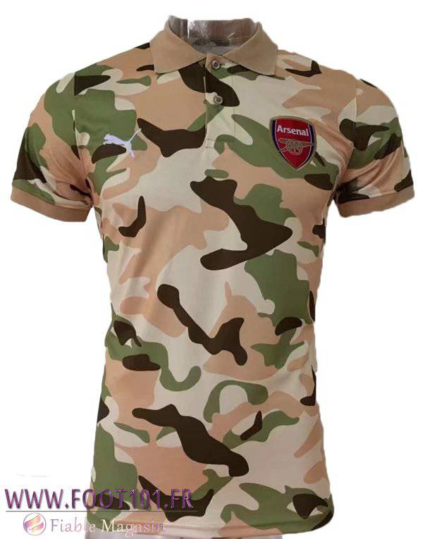 Polo Arsenal Brown/Vert Camouflage 2017-2018