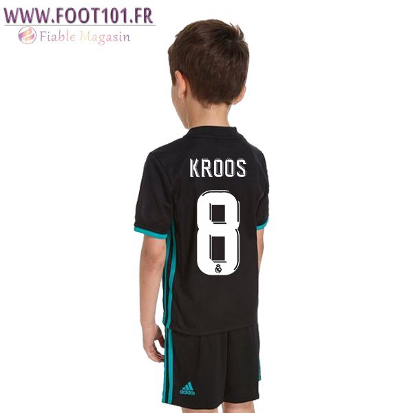 Maillot Foot Real Madrid (KROOS 8) Enfant Exterieur 2017/2018