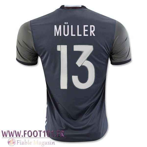 Maillot Foot Equipe Allemagne (MULLER 13) 2016/2017 Exterieur