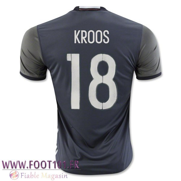 Maillot Foot Equipe Allemagne (KROOS 18) 2016/2017 Exterieur