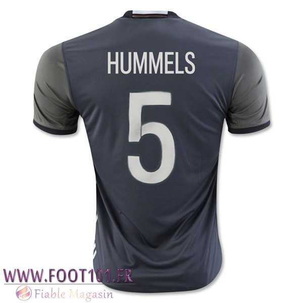 Maillot Foot Equipe Allemagne (HUMMELS 5) 2016/2017 Exterieur