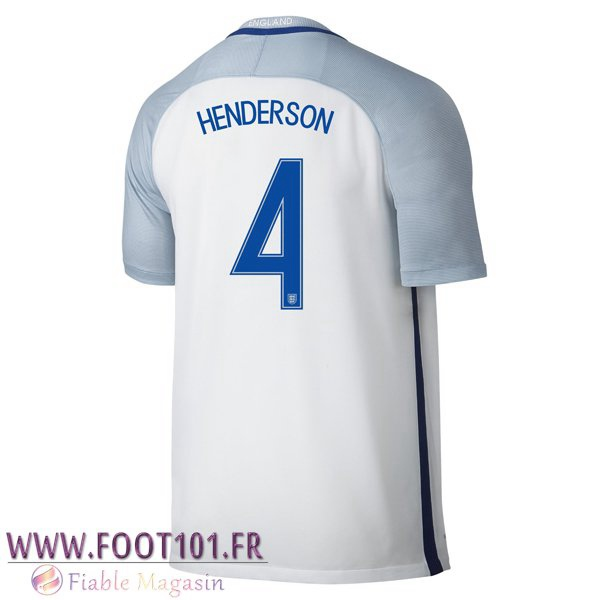 Maillot Foot Equipe Angleterre (HENdeRSON 4) 2016/2017 Domicile