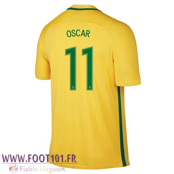 Maillot Foot Equipe Bresil (OSCAR 11) 2016/2017 Domicile