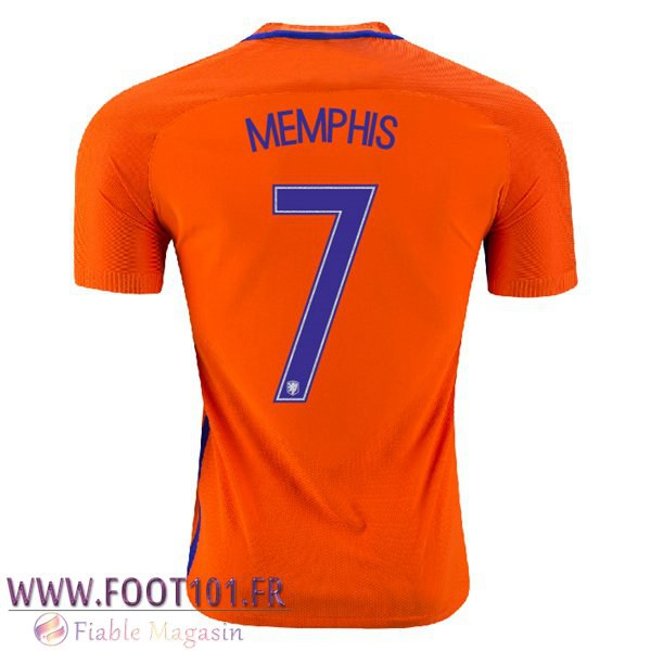 Maillot Foot Equipe Pays-Bas (MEMPHIS 7) 2016/2017 Domicile