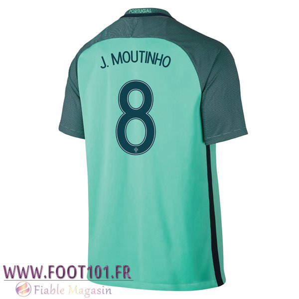 Maillot Foot Equipe Portugal (J.MOUTINHO 8) 2016/2017 Exterieur