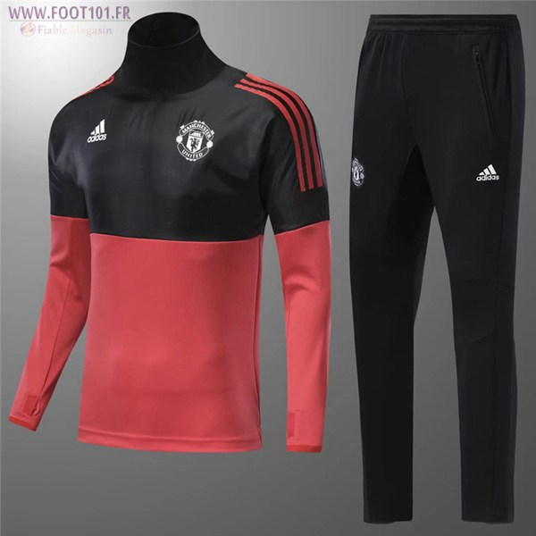 Ensemble Survetement Foot Manchester United Enfant Rouge/Noir 2017/2018