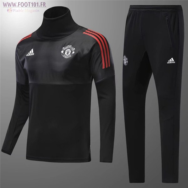 Ensemble Survetement Foot Manchester United Enfant Noir 2017/2018