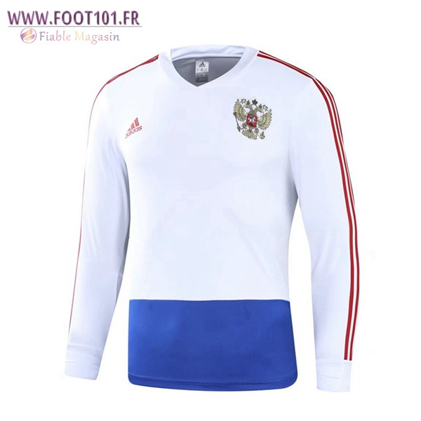 Sweatshirt Training Foot Russie Blanc 2018/2019