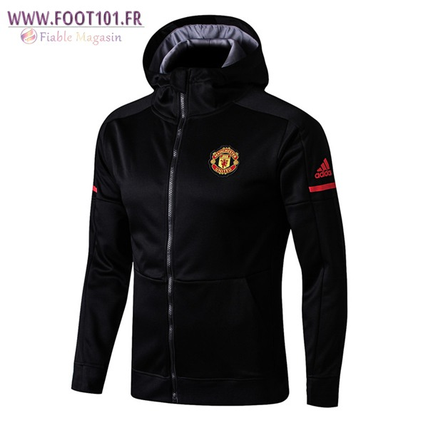 Capuche Veste Foot Manchester United Noir 2017/2018 Ensemble
