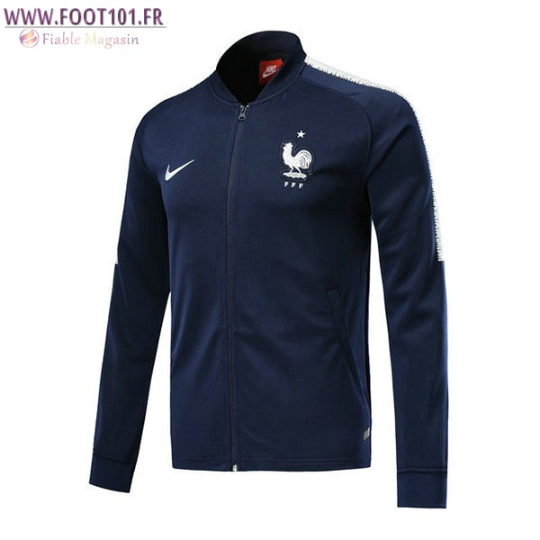 Veste Foot France Bleu Marine 2017/2018