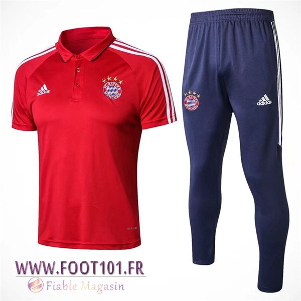 Ensemble Polo Bayern Munich + Pantalon Rouge 2017/2018