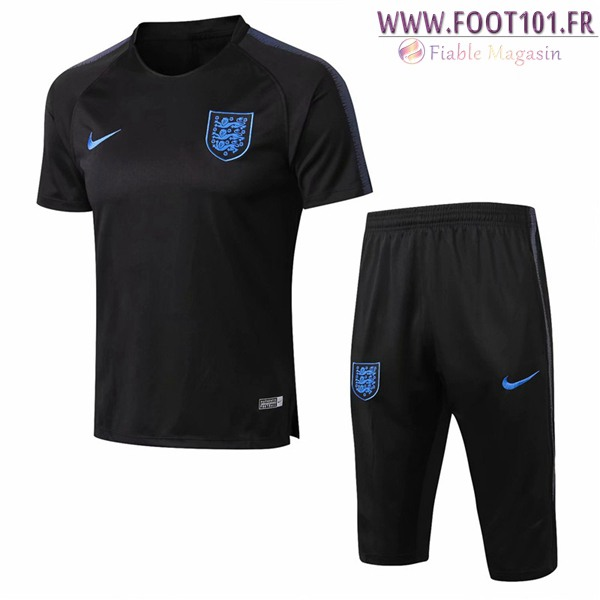 Ensemble PRÉ MATCH Training Angleterre + Pantalon 3/4 Noir 2018/2019