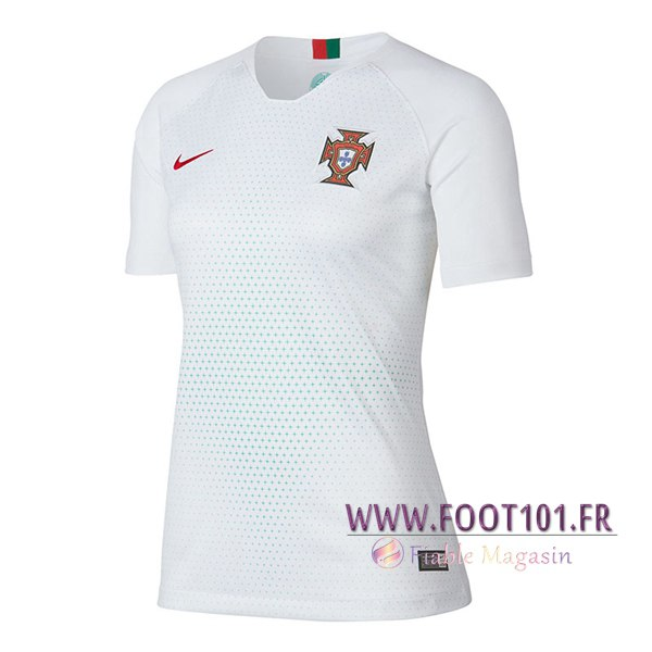 Maillot Foot Equipe Portugal 2018 2019 Femme Exterieur