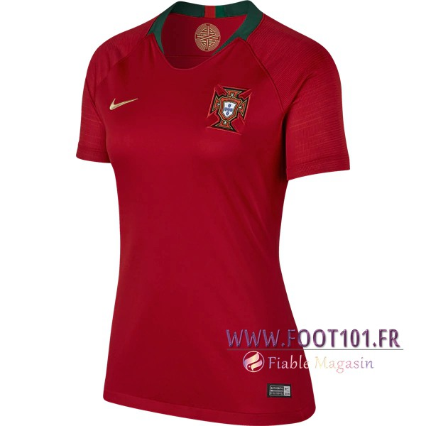 Maillot Foot Equipe Portugal 2018 2019 Femme Domicile