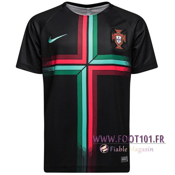 Ensemble PRÉ MATCH Training Portugal Noir/Rouge/Vert 2018/2019