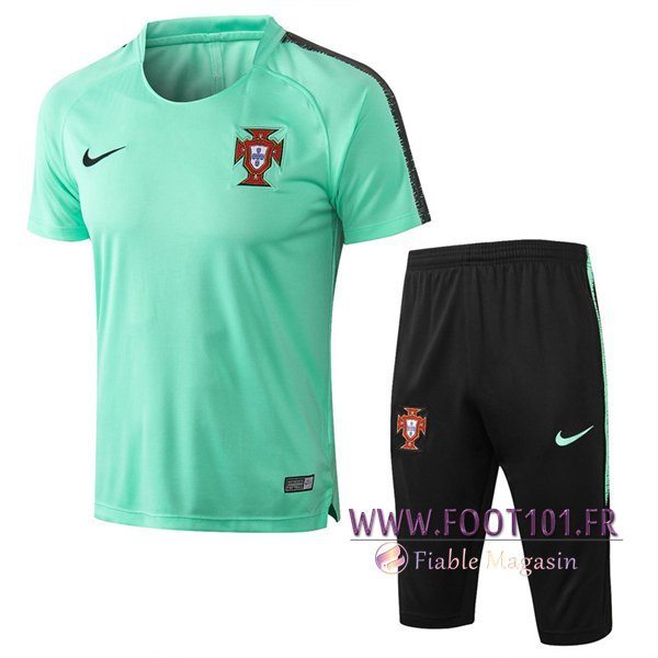 Ensemble PRÉ MATCH Training Portugal + Pantalon 3/4 Vert 2018/2019