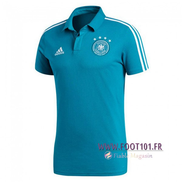 Polo Foot Allemagne Bleu 2018/2019