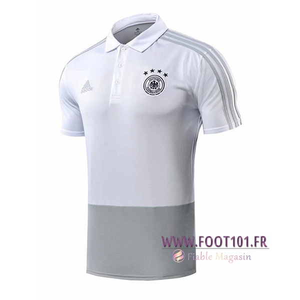 Polo Foot Allemagne Blanc 2018/2019