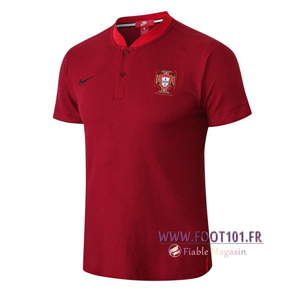 Polo Foot Portugal Col Rond Rouge 2018/2019