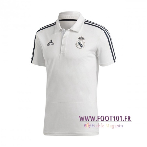 Polo Foot Real Madrid Blanc 2018/2019