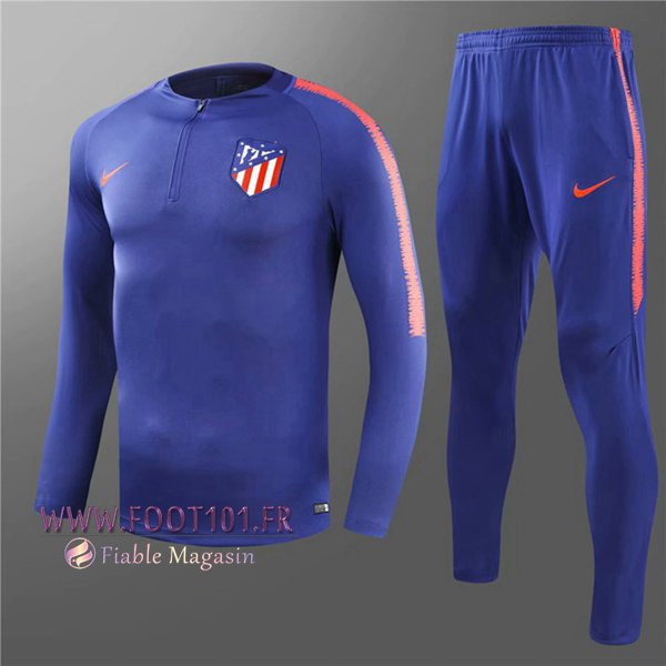 Ensemble Survetement Foot Atletico Madrid Enfant Bleu 2018/2019