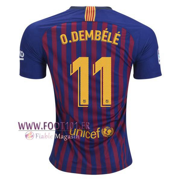 Maillot Foot FC Barcelone (11 O.DEMBELE) Domicile 2018/2019