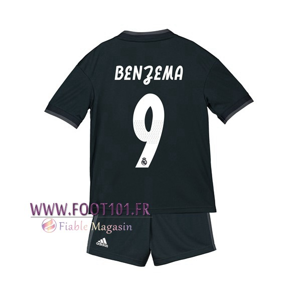 Maillot Foot Real Madrid (9 BENZEMA) Enfants Exterieur 2018/2019