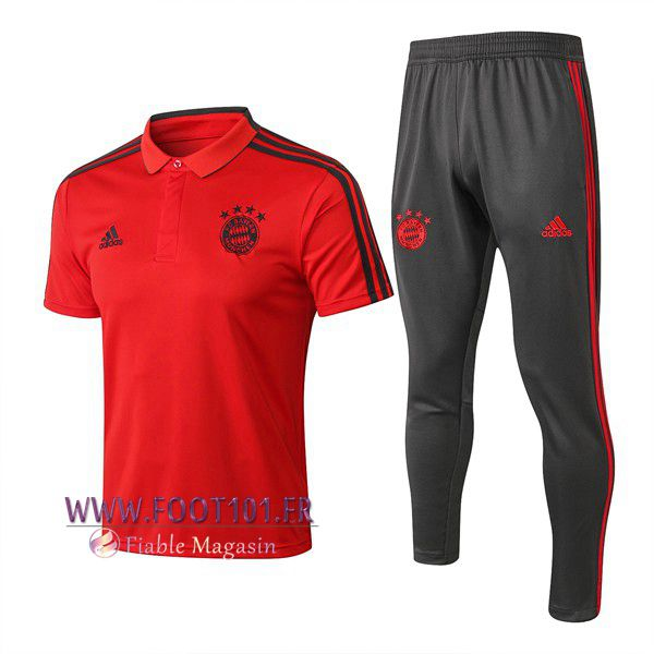 Ensemble Polo Bayern Munich + Pantalon Rouge 2018/2019