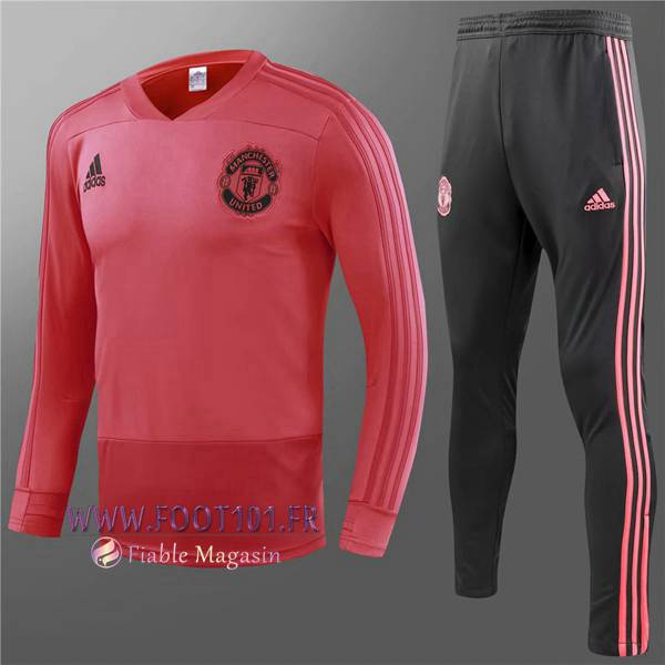 Ensemble Survetement Foot Manchester United Enfant Rouge 2018/2019