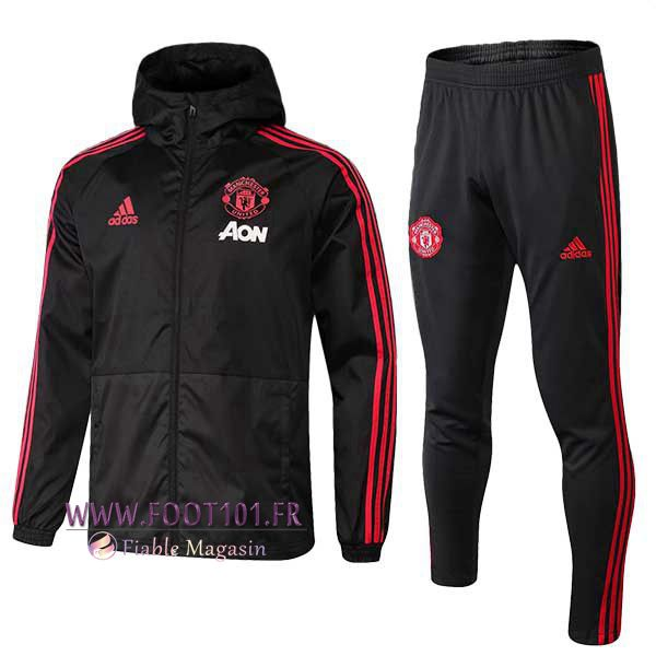 Ensemble Veste Coupe Vent Manchester United Noir 2018/2019