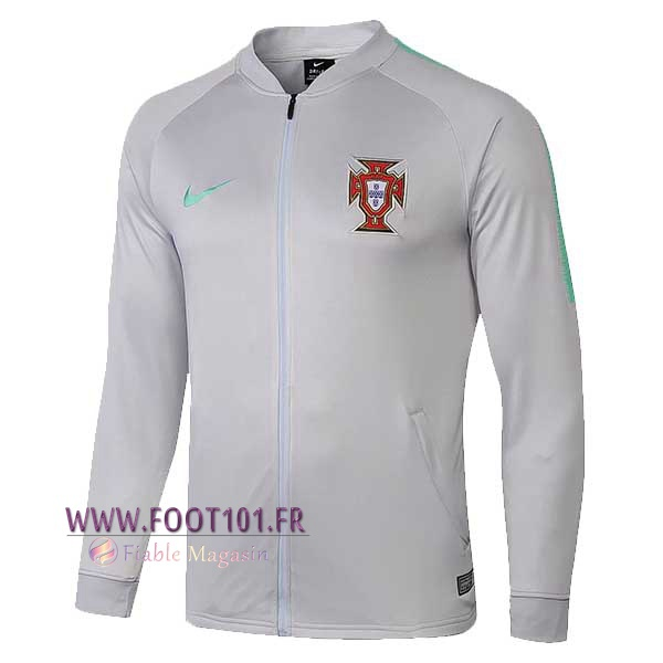 Veste Foot Portugal Gris 2018/2019