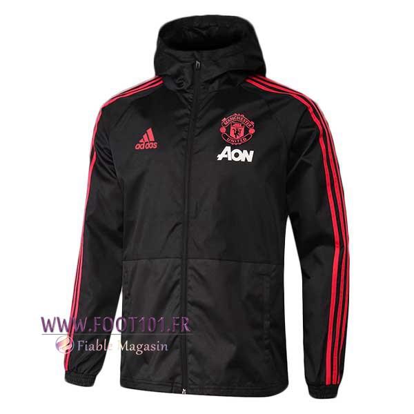 Veste Foot Coupe Vent Manchester United Noir 2018/2019