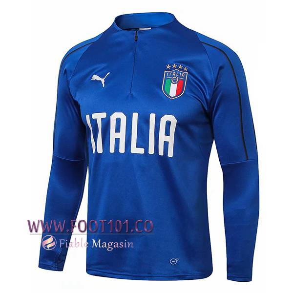 Sweatshirt Training Italie Bleu 2018 2019