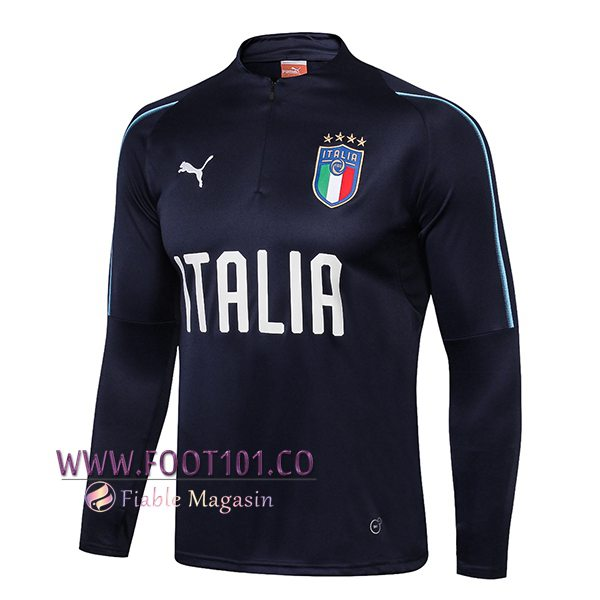 Sweatshirt Training Italie Noir 2018 2019