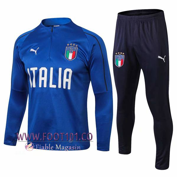 Ensemble Survetement Foot Italie Bleu 2018 2019