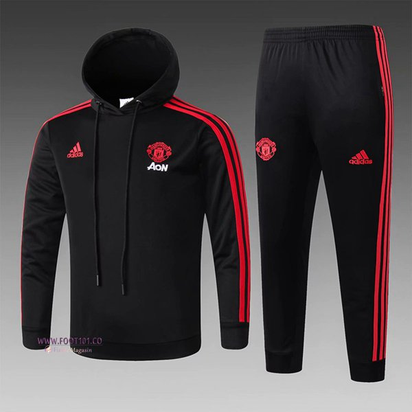 Ensemble Sweat A Capuche Survetement Manchester United Enfant Noir 2018/2019