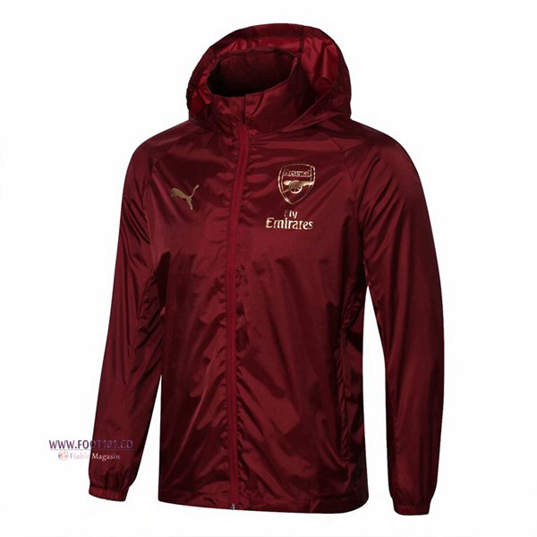 Veste Foot Coupe Vent Arsenal Rouge 2018/2019