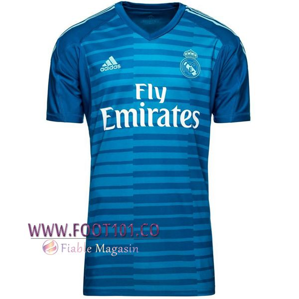 Maillot Foot Real Madrid Gardien de but Bleu 2018/2019